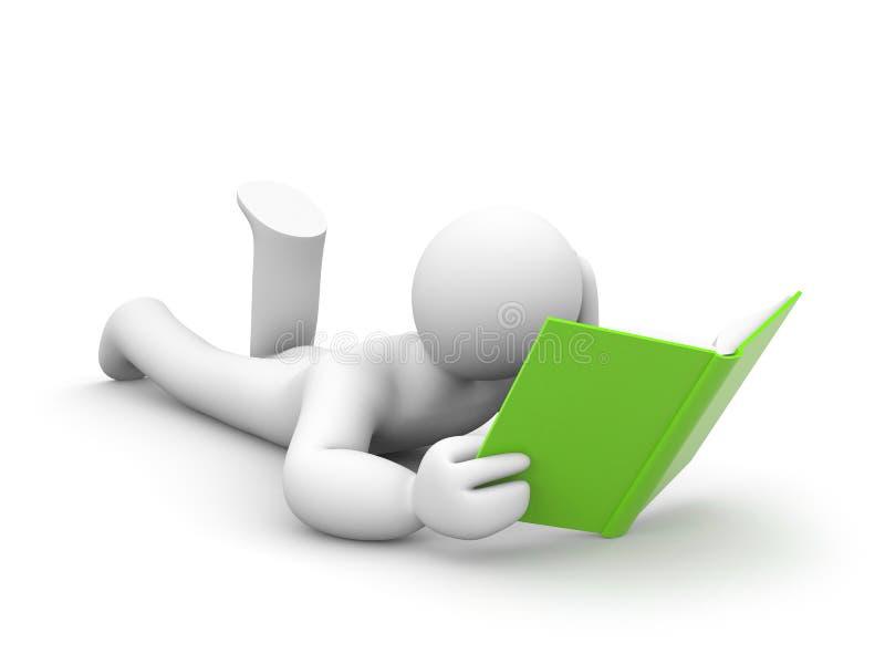 书人员读 向量例证