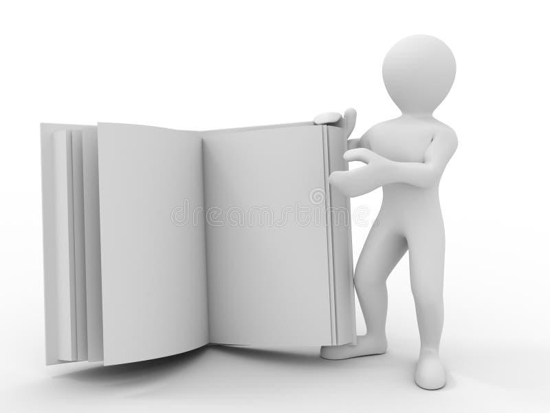 书人 向量例证