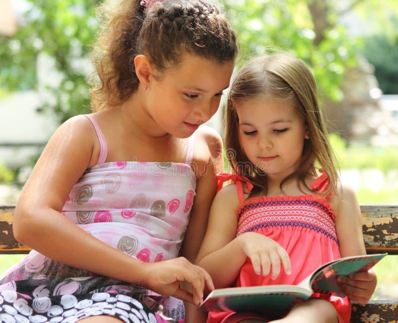 书儿童读 库存照片