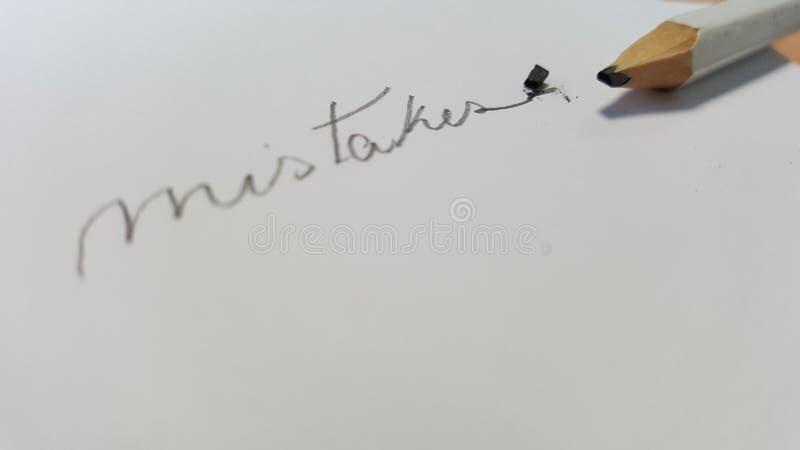 书写与有残破的技巧的残破的技巧铅笔 免版税库存图片
