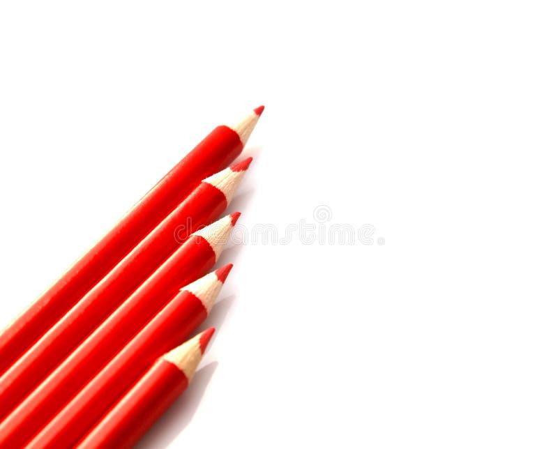 书写红色 库存图片