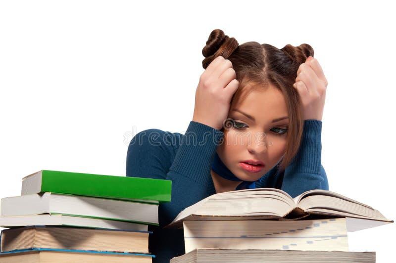 Download 书前女孩开会 库存照片. 图片 包括有 路径, 查出, 复杂, 模式, 逗人喜爱, 女性, 迷住, 白种人 - 22352876