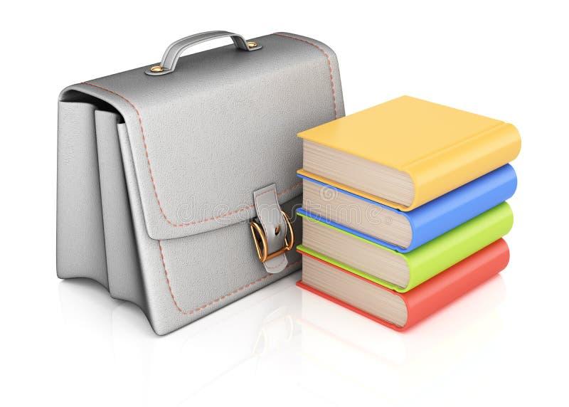 书包和书 向量例证