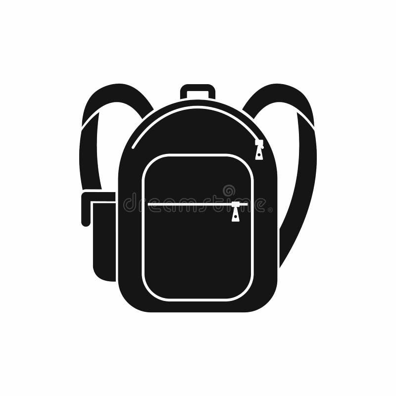 书包象,简单的样式 库存例证