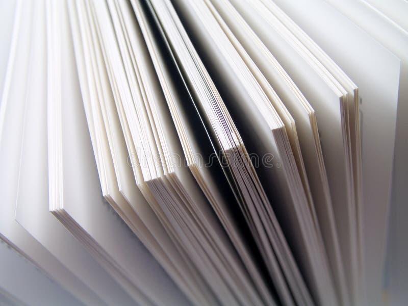 书呼叫白色 免版税库存照片