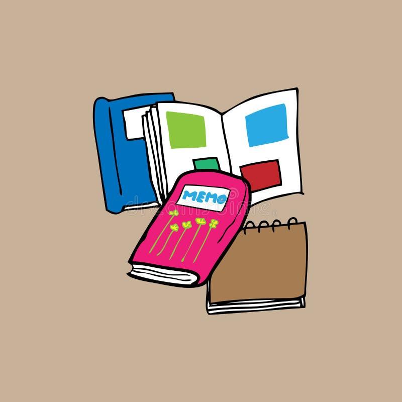 书和备忘录 库存例证