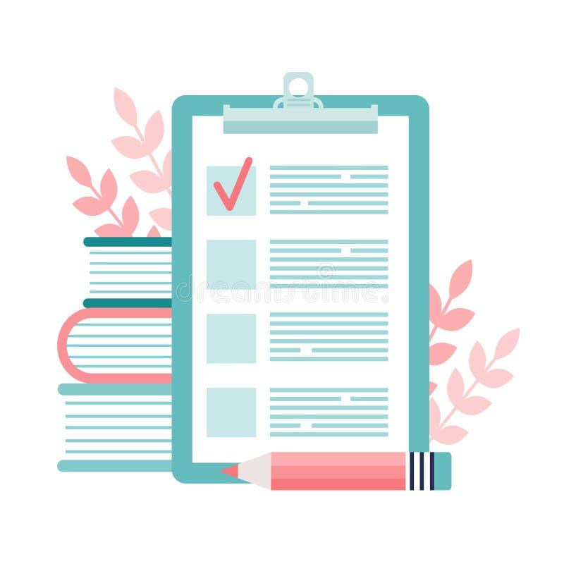 书和清单 向量例证