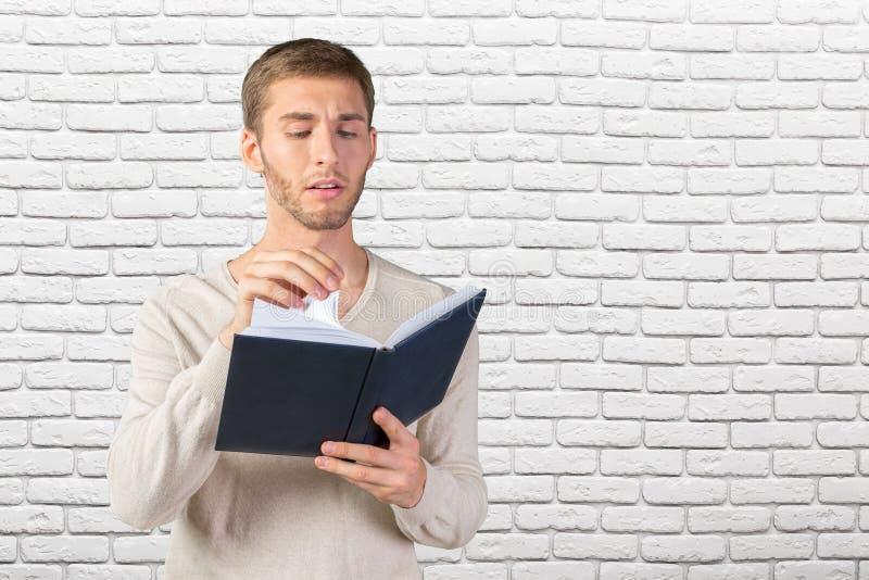 书商人读取 库存图片