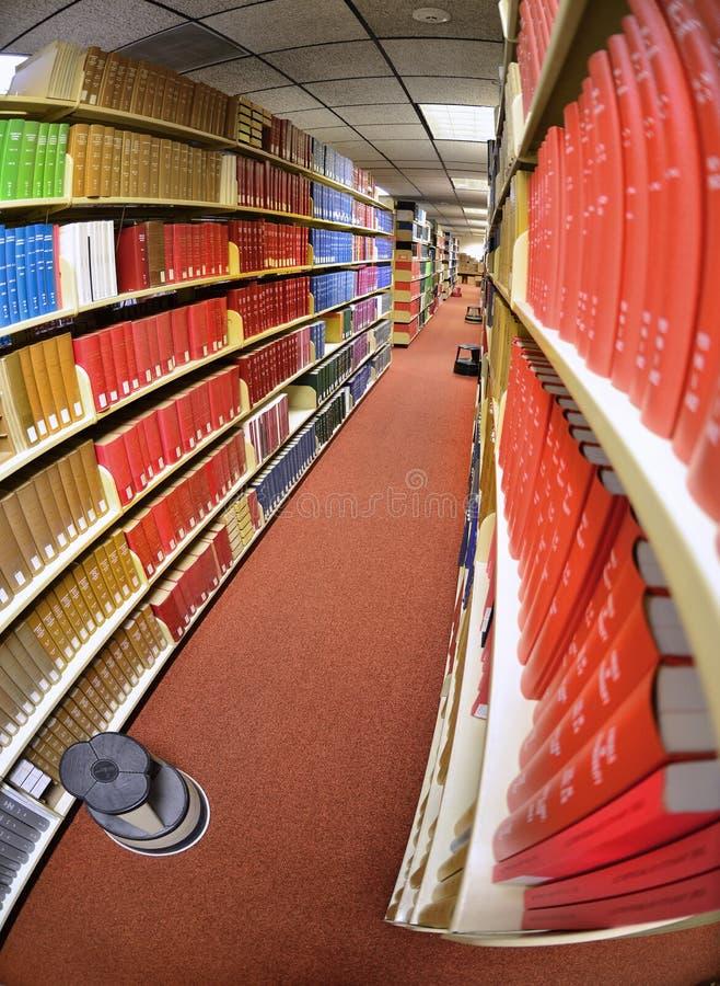 书在图书馆里 库存照片