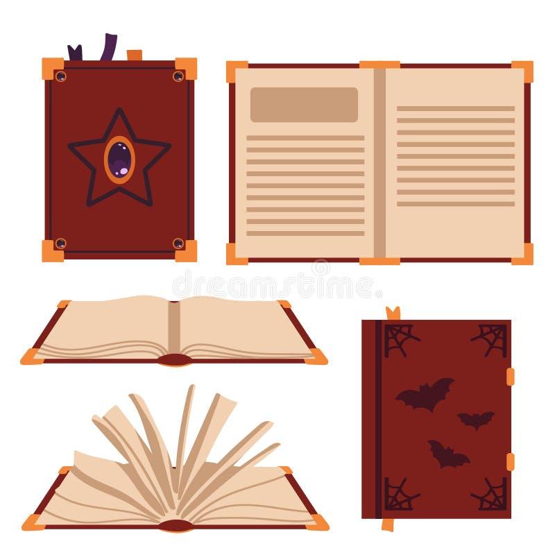 书在白色背景拼写隔绝 巫婆的书 r 库存例证