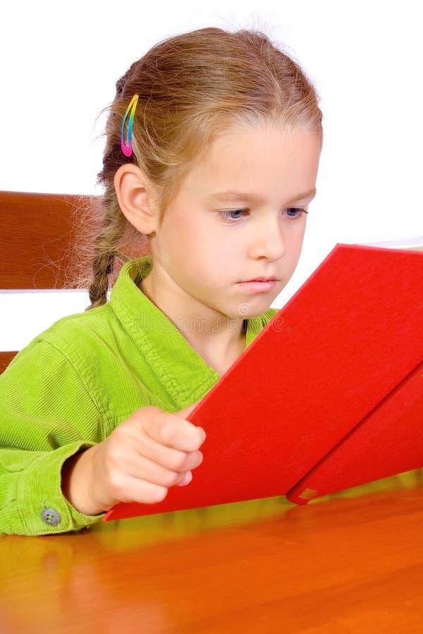 书女孩年轻人 库存照片