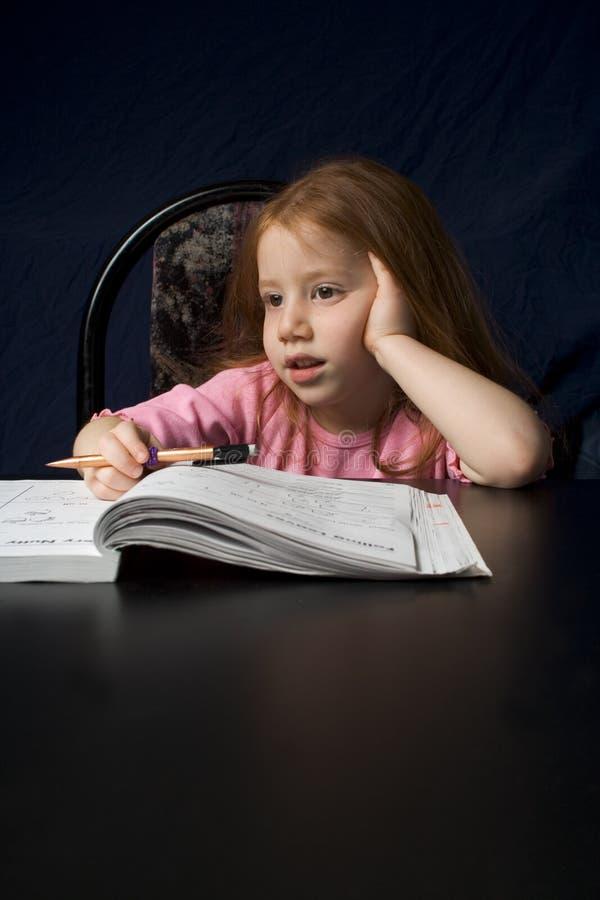 书女孩研究 免版税图库摄影