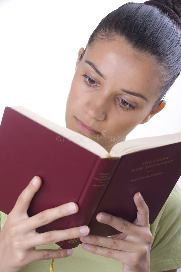 书女孩读取 免版税库存照片