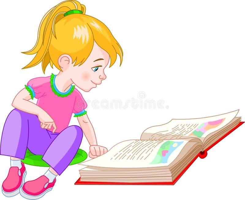 书女孩 库存例证