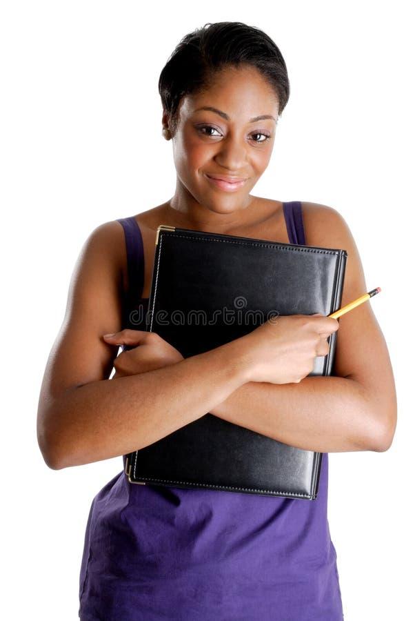 书女性藏品铅笔学员年轻人 库存照片