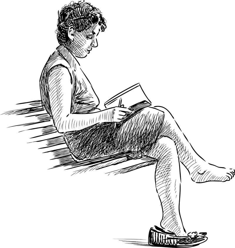 读书妇女 皇族释放例证