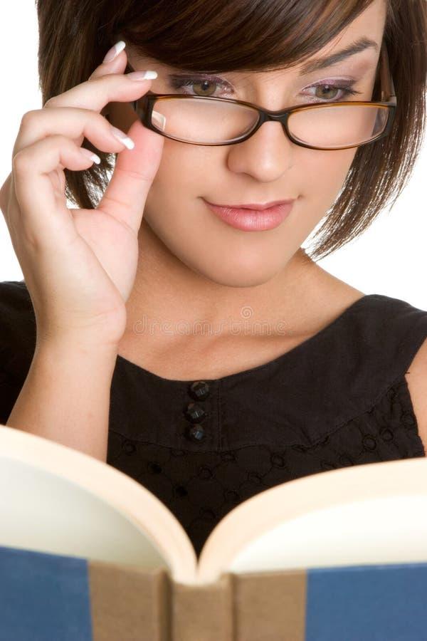 书妇女 免版税库存照片