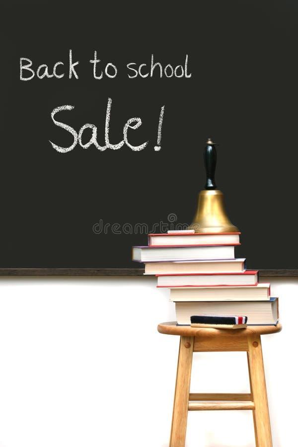 书学校凳子 免版税图库摄影