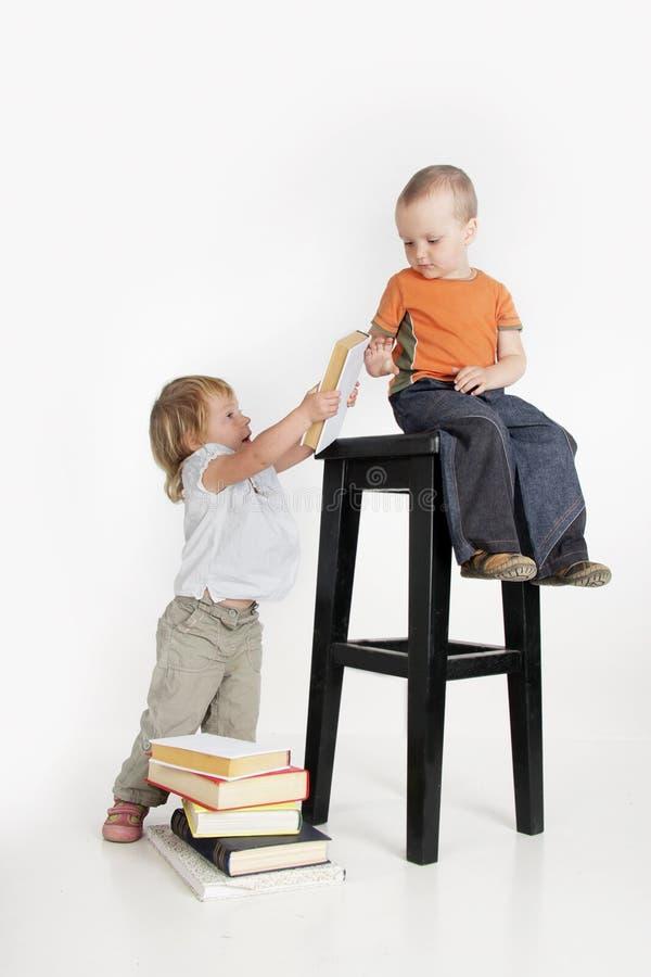 书孩子二 免版税库存图片