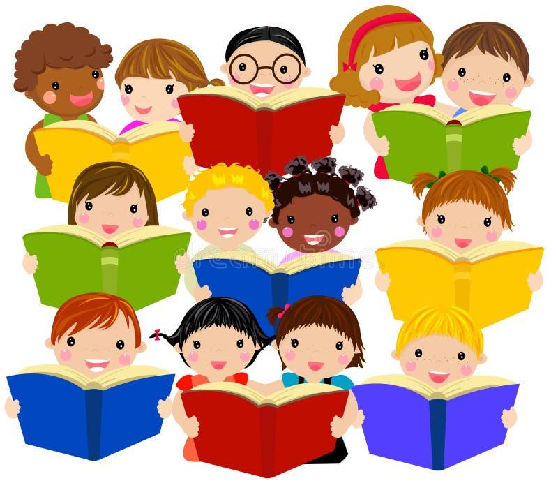 书孩子读 向量例证