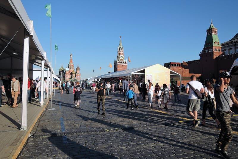 书市红场在莫斯科 库存照片