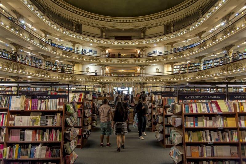 书店El Ateneo,布宜诺斯艾利斯,阿根廷 库存图片