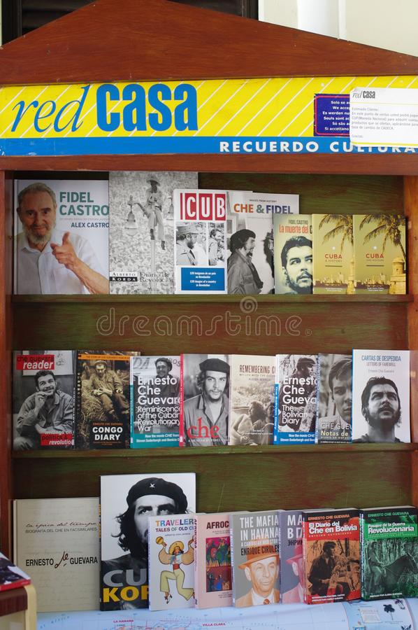 书摊在古巴 免版税库存照片