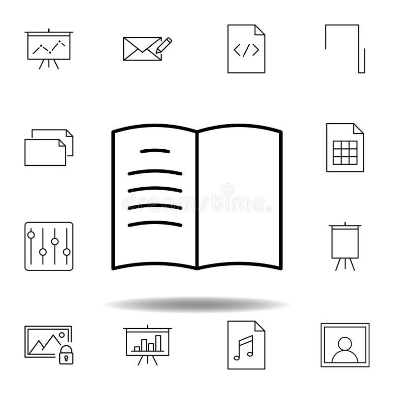书日志书签概述象 详细的套unigrid多媒体例证象 能为网,商标,流动应用程序,UI使用 向量例证