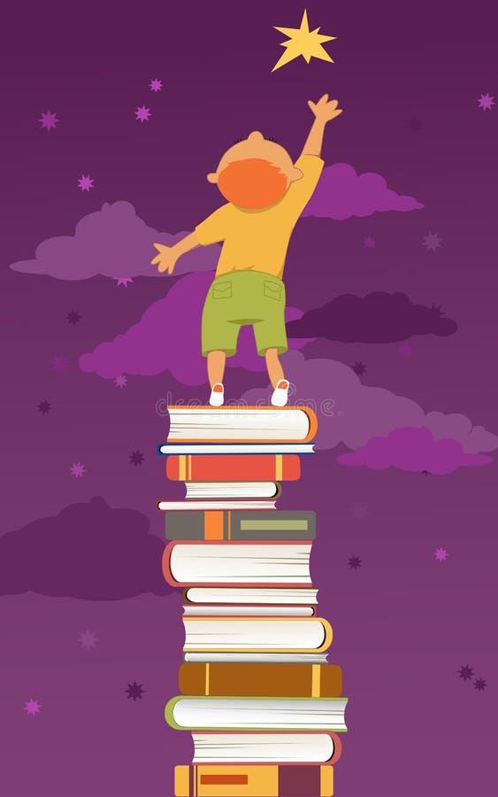 读书是重要的 库存例证