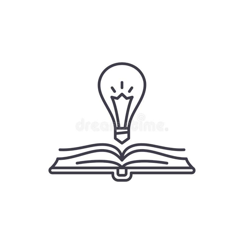书智慧线象概念 书智慧传染媒介线性例证,标志,标志 向量例证