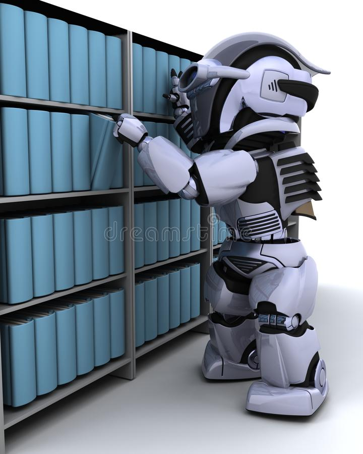 书架机器人 向量例证