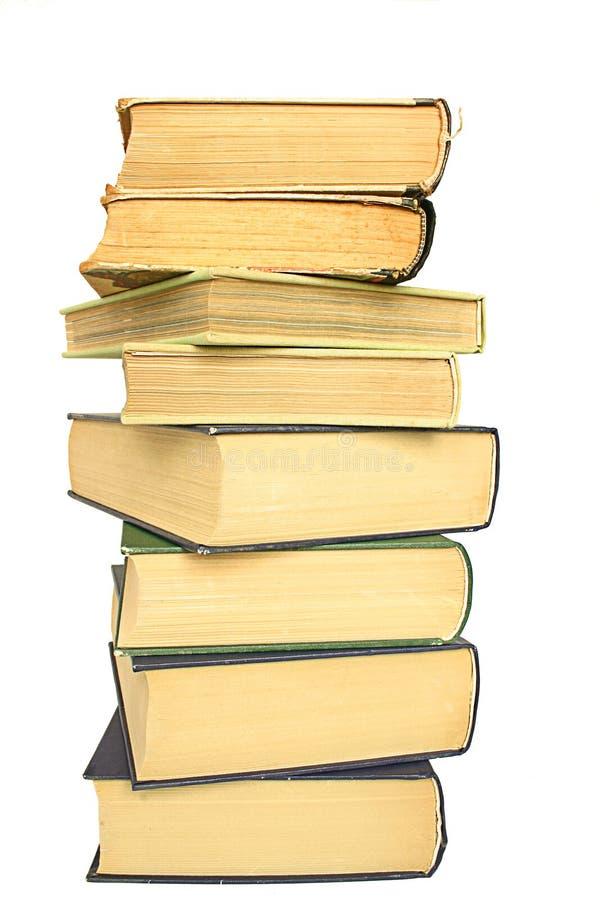 书架染黄了 免版税库存照片