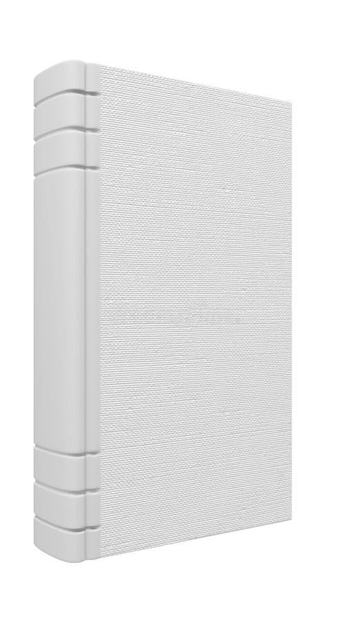 书查出的白色 库存例证