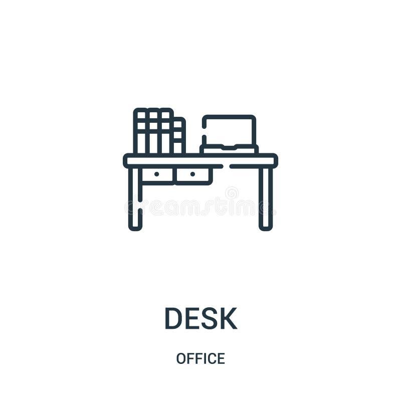 书桌从办公室汇集的象传染媒介 稀薄的线书桌概述象传染媒介例证 皇族释放例证