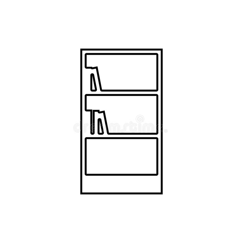 书橱象 家具的元素流动概念和网应用程序象的 网站设计和发展的, app稀薄的线象 向量例证