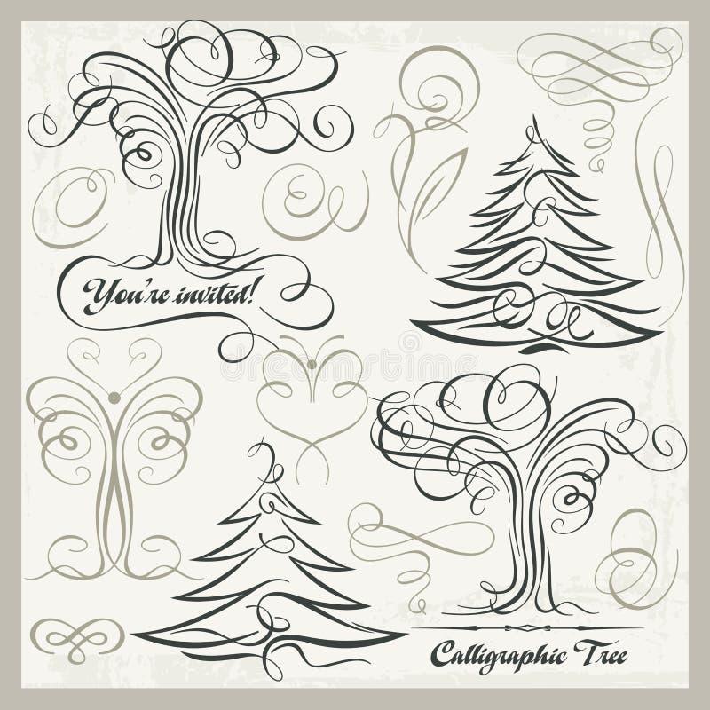 Download 书法树蝴蝶设计元素Clipart集合, 向量例证. 插画 包括有 从事园艺, 要素, 本质, 卷毛, 高雅 - 51312627