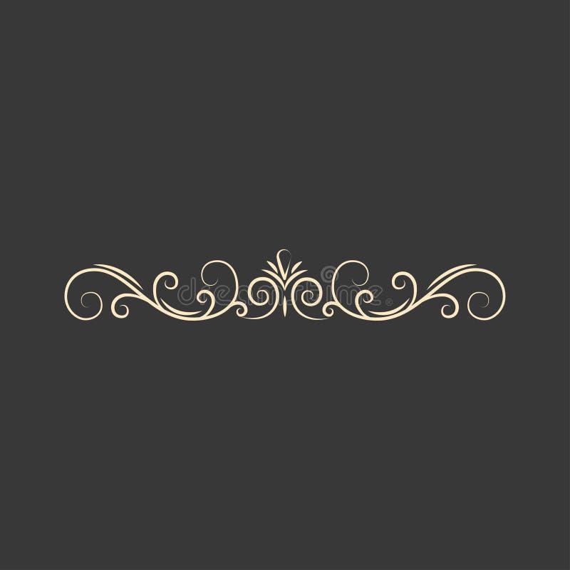 书法装饰元素 页装饰 漩涡,华丽卷毛 设计要素例证图象向量 贺卡设计 向量 库存例证