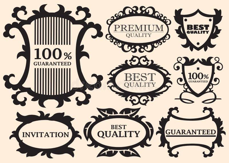 书法设计要素 向量例证