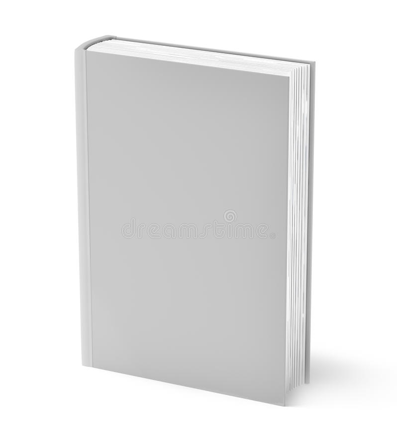 书灰色查出的白色 向量例证