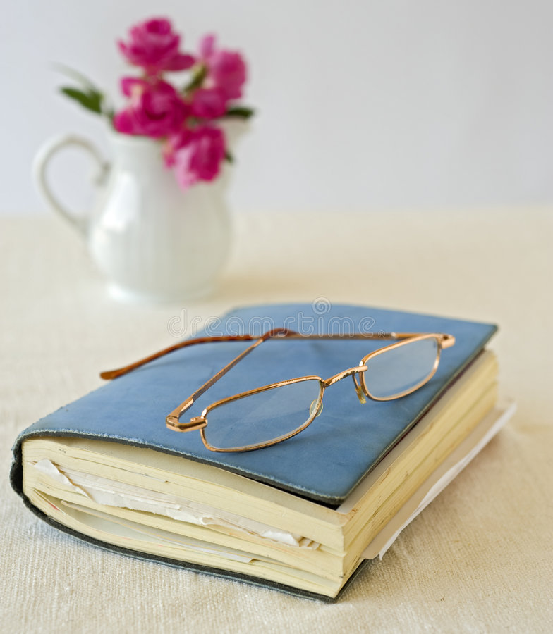 书玻璃 免版税库存照片