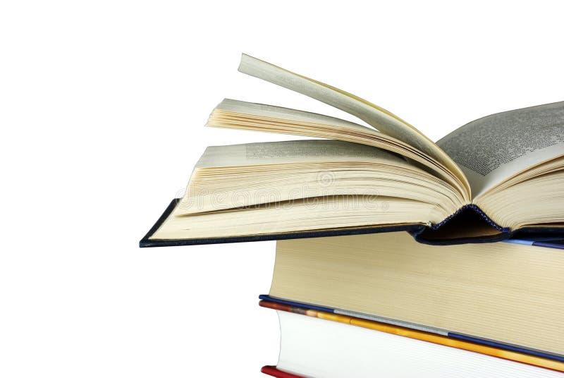 书登记查出放置被开张的白色 免版税库存图片