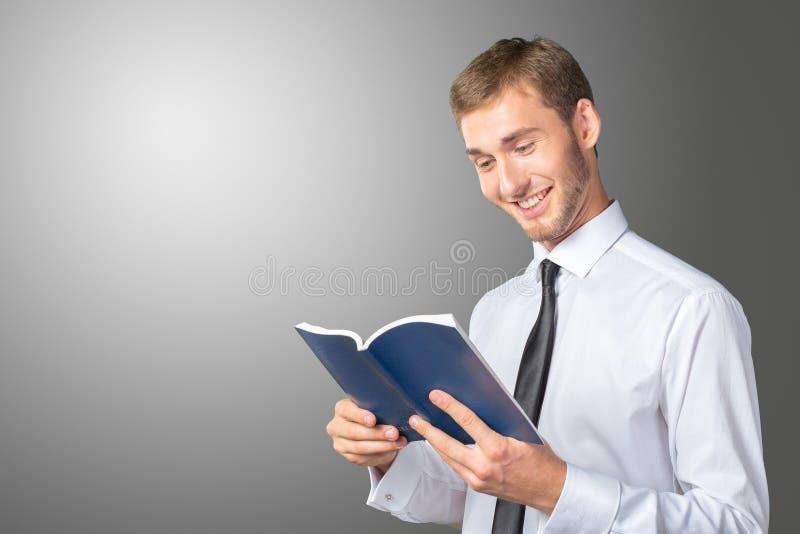 读书的生意人 库存图片