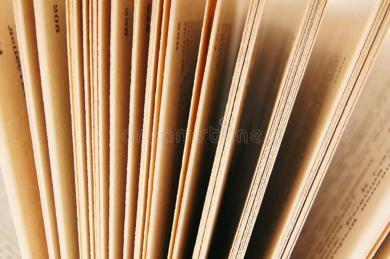从书的页 关闭 免版税库存图片