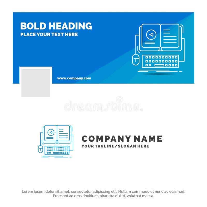 书的,ebook蓝色企业商标模板,交互式,流动,录影 r r 皇族释放例证