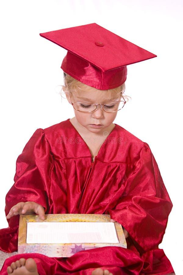书聪明的小孩 免版税库存照片