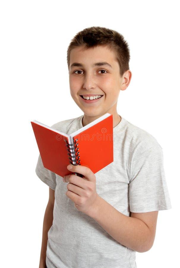 书藏品学校小的微笑的学员 免版税库存照片