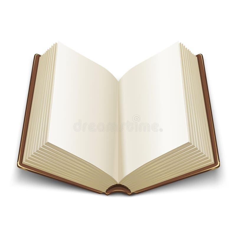 书被开张的褐色盖子 皇族释放例证