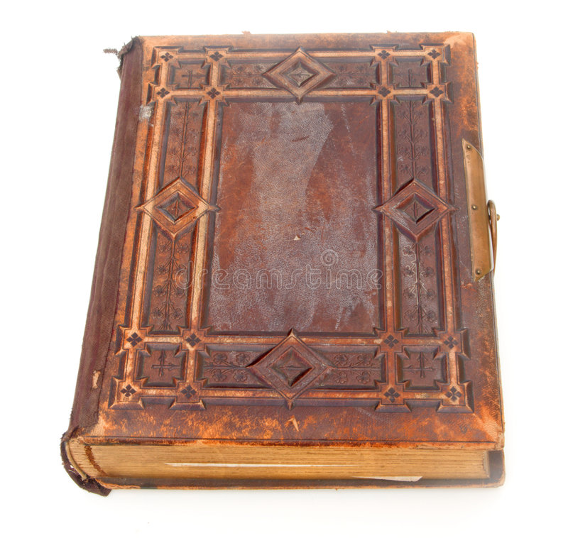 书被限制皮革老选拔 免版税库存照片