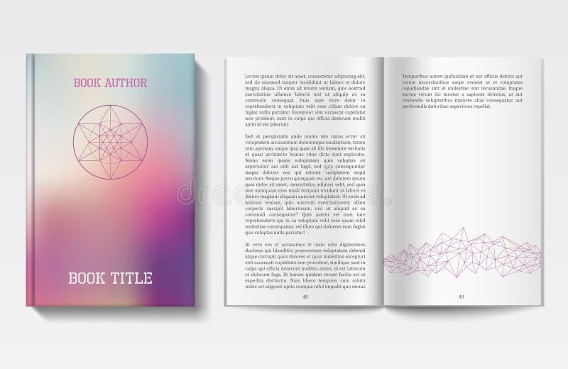 书设计模板 向量例证