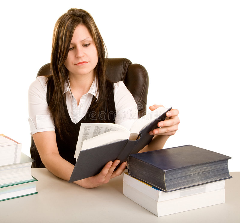 书读取妇女 免版税库存照片